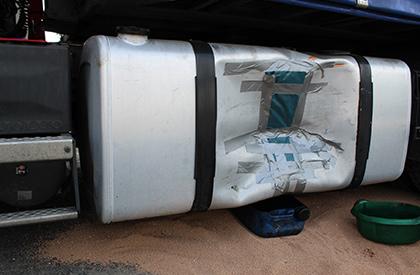 Unfallschaden LKW Tank