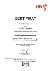 GFZ Zertifikat Damian Zyzniewski