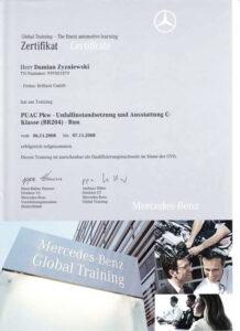 Mercedes Zertifikat Meisterbrief Damian Zyzniewski