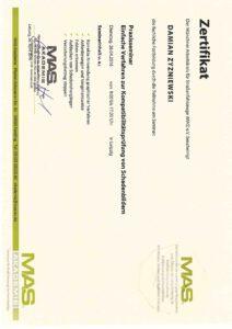 Zertifikat - Kompatibilitätsprüfung
