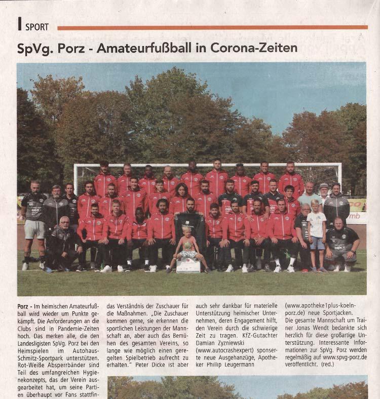 Sponsoring Fussballmannschaft