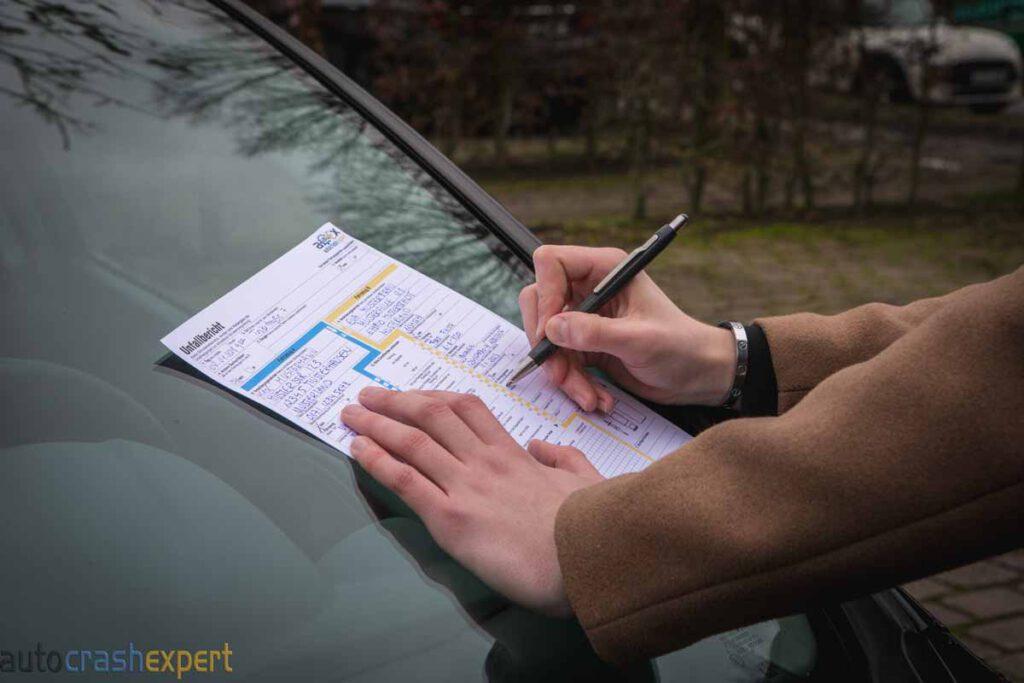 Unfallbericht schreiben